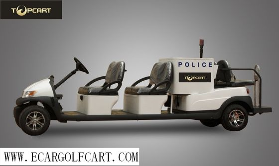Injection Material 6 Seater Golf Buggy , Electric Patrol Vehicle With Alarm Lights