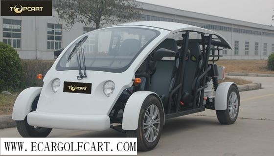 4 Seater Electric Utility Vehicle Golf Carts With Fiberglass Material , EEC Certification