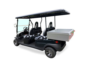Dark Blue Electric Utility Golf Cart 4 Passenger With Aluminum Box For Luggage