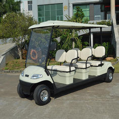 Popular Outdoor 6 Seater Golf Cart With Aluminum Rim , 48V Battery Voltag