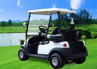 China Small Electric 2 Seater Golf Cart , White Battery Operated Golf Buggies 48V factory