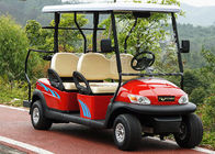China Red Color 4 Seater Golf Cart Electric Car , Electric Street Legal Vehicles factory