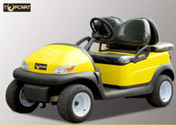 China Yellow Color 4 Seater Golf Cart With Curtis 400 A Controller , Premium Bench Seat factory