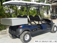 China Dark Blue Electric Utility Golf Cart 4 Passenger With Aluminum Box For Luggage company