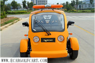 China Battery Powered Golf Cart 2 Seater , Electric Police Vehicles Easy Handle factory