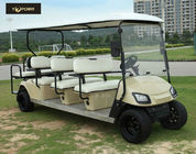 China Bronze Street Legal Electric 8 Passenger Golf Cart With Black Seats , Sharp Looking factory
