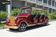 Luxury CE approved electric vintage car 12 seater golf cart in Roof with Jumper Seat