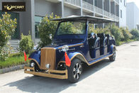 AC System 12 Seater Golf Cart Shuttle Car  with Rain Cover For Tourist