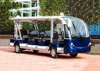 Blue Electric Sightseeing Bus Trojan Battery Powered Electric Tour Bus
