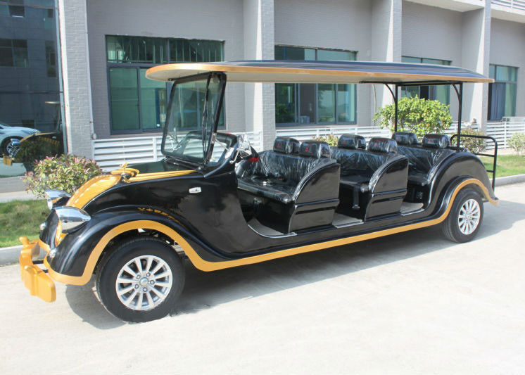 black classic electric cars sightseeing 8 seater club. Black Bedroom Furniture Sets. Home Design Ideas