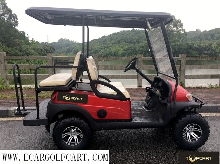 Red 4 Seater Golf Buggy Off Road Electric Golf Cart With Steel