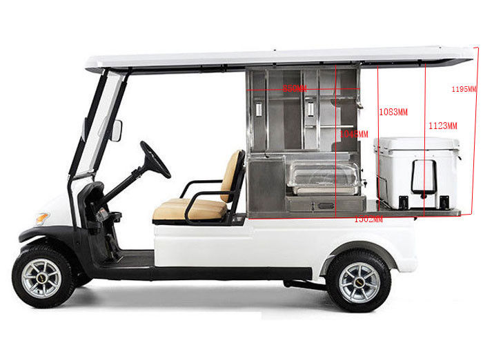 48v Battery Operated Golf Beverage Cart Golf Cart Food Cart With