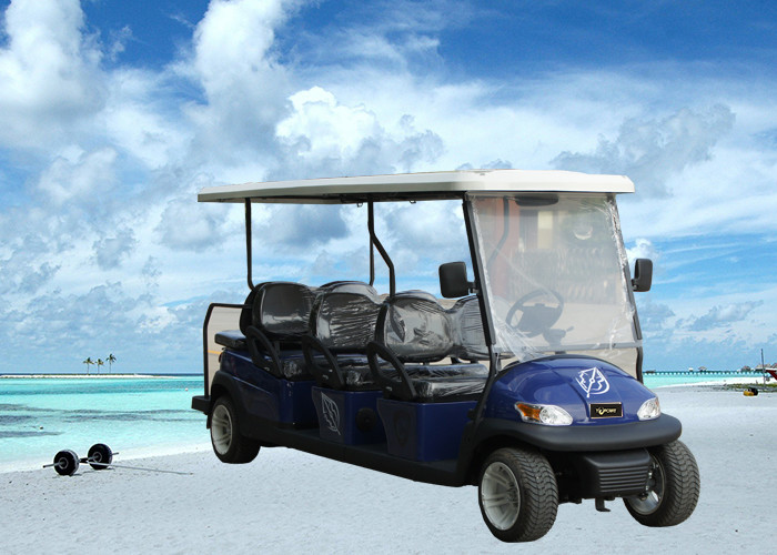 Modern Design Electric Club Car , Motorized Street Golf Cart 8 Passenger