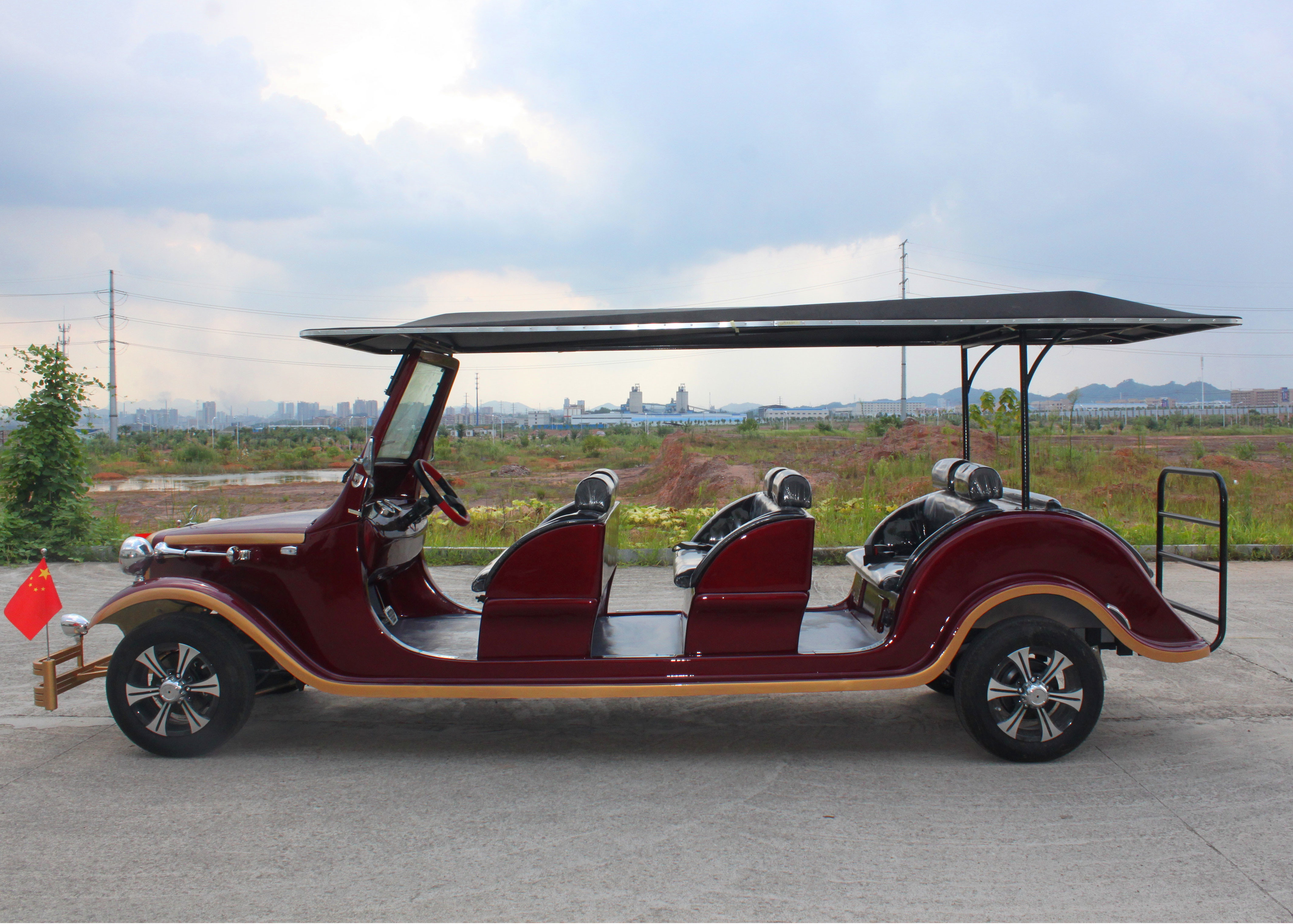 Hotel Shuttle Clic Golf Cars Street Legal Electric Vehicles 48v Battery Voltage