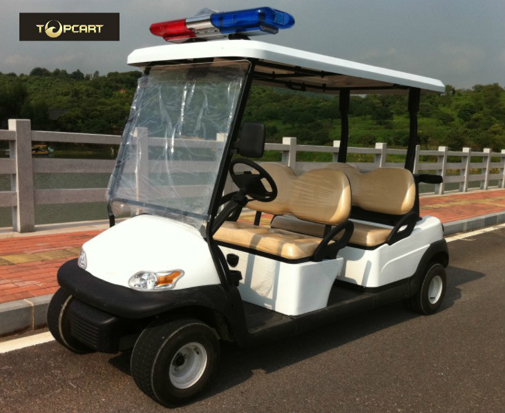 Four Person Custom Electric Golf Carts Police Patrol Car With Curtis Controller