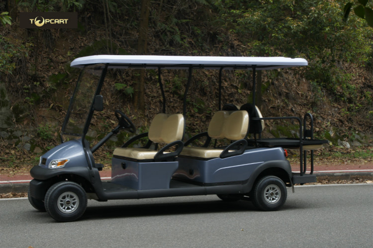 Electric Six Passenger Golf Cart With 48V Battery For Sightseeing CE Approved