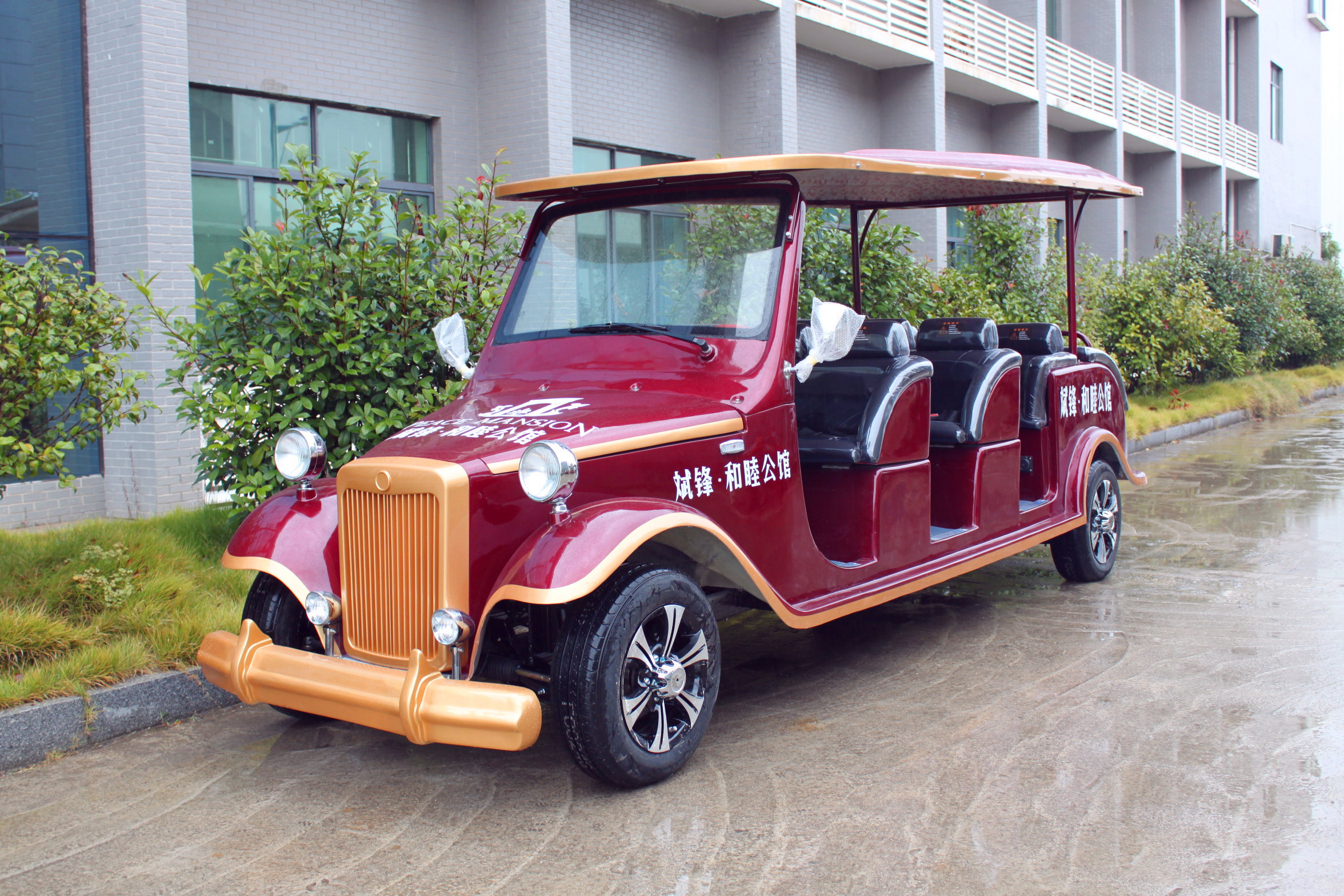 8 Passenger Classic Car Golf Carts With High Strong Composite Aluminum Frame Chassis