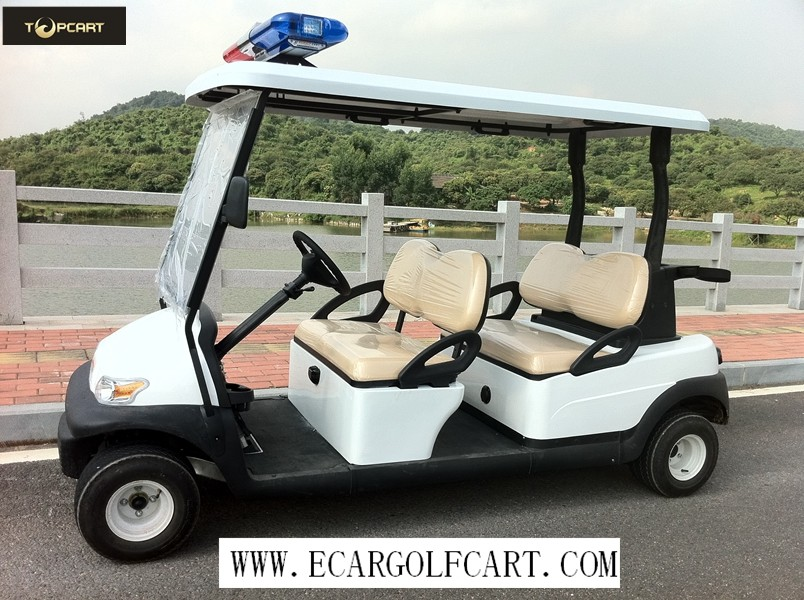 High Safe Four Person Golf Cart , Small Battery Operated Golf Buggies 48V