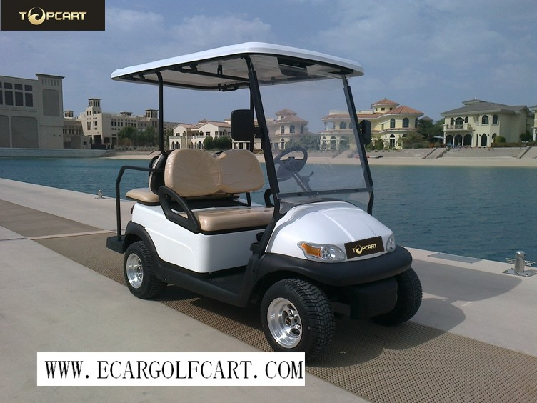 Low Speed 4 Seater Golf Cart Sightseeing Clubcar PP Material High Performance
