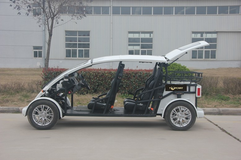 Electric Utility 4 Seater Golf Cart Fibergl Material For Street on