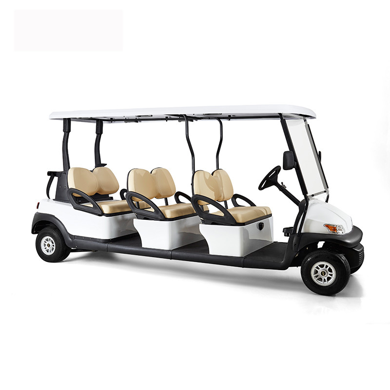 Transportation 8 Seater Golf Cart 48V Battery With Soft And Wide Seats