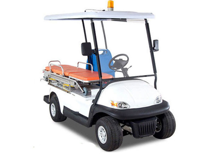 White Custom Street Legal Golf Carts Two Seater For Ambulance CE Approved