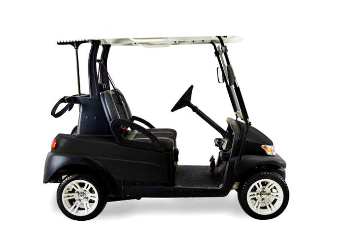 Soft Leather Seat Electric Street Legal Golf Cart After The Double Drive And Cover