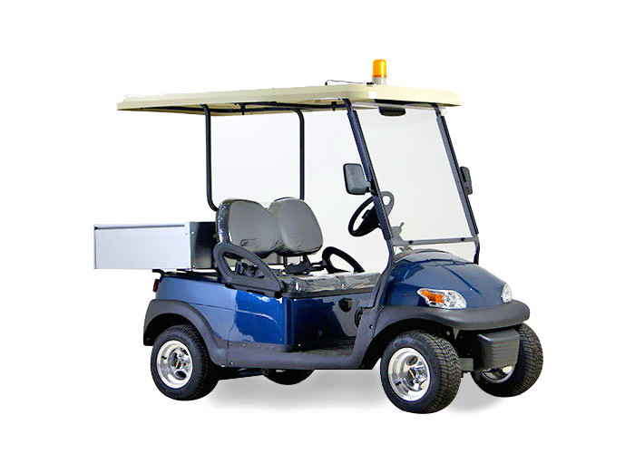 48V Electric 2 seats  Utility Cart With Small Aluminum Box For Luggage