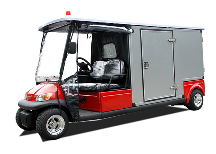 RED 48V 2 Seater Electric Ambulance Car / Club Emergency Golf Carts