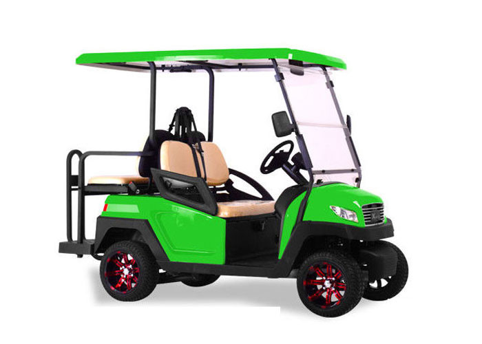 Green Color Multi Passenger Golf Carts , High End 4 Seater Electric Golf Buggy