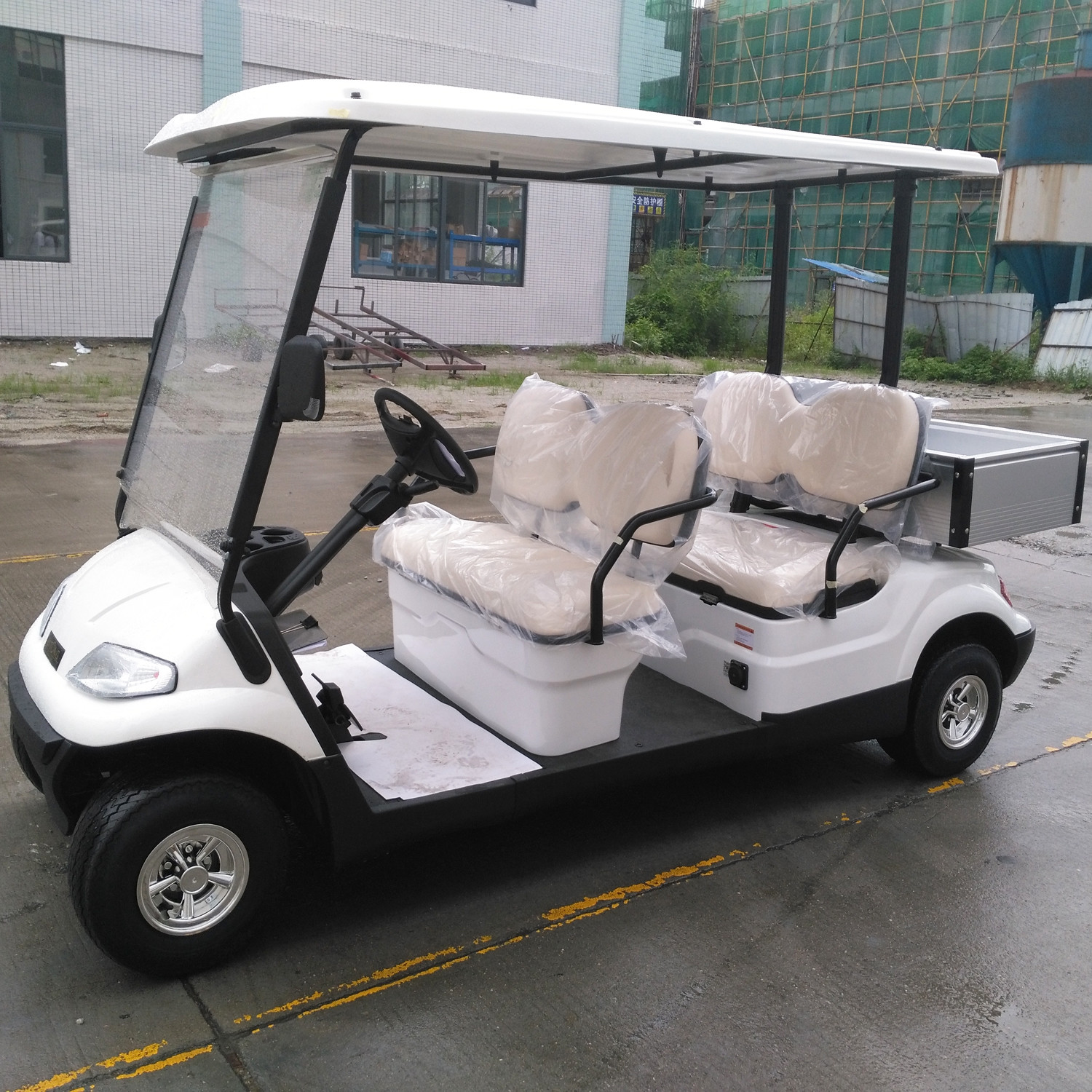 AC System 4 Seater Electric Golf Cart Utility Vehicle Service Cargo Carts