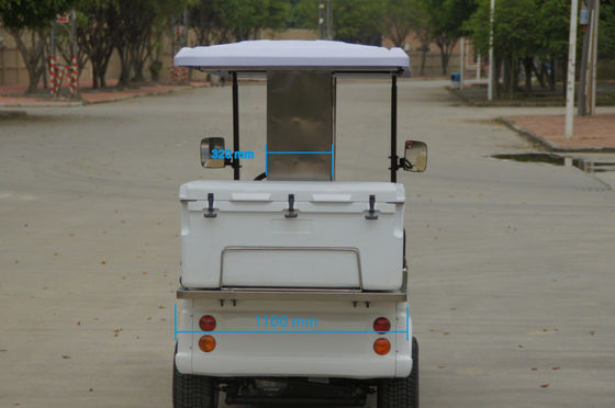 48V Battery Operated Golf Beverage Cart , Golf Cart Food Cart With Refrigerator