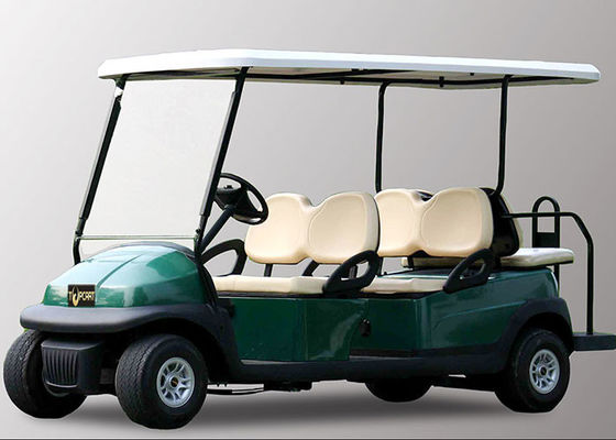 48V 6 Seater Electric Golf Cart With Aluminum Chassis For Transportation