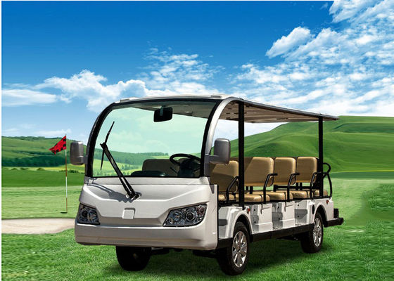 Sightseeing Tourist Shuttle Bus 48V Electric Golf Buggy For 14 Passenger