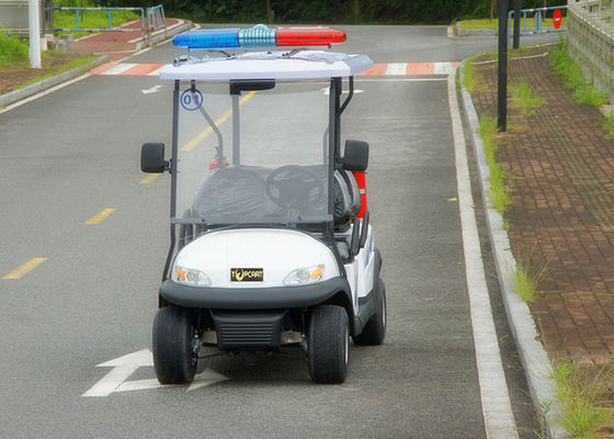 Customized White Utility Golf Cart , Electric Police Car For 4 Person