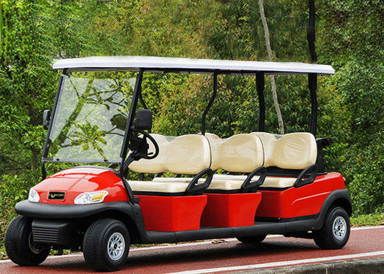 Popular Outdoor 6 Seater Golf Cart With Aluminum Rim , 48V Battery Voltage