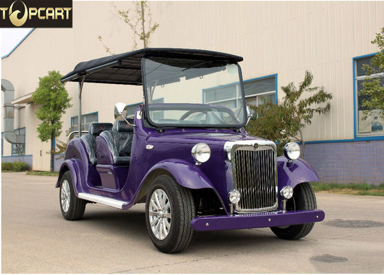 High Performance Classic Golf Cart 4 Passenger Electric Buggy Car With Purple Color