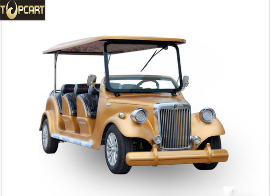 Classic Type Electric Club Car Utility Vehicle With Golden Yellow Color , 8 Seat