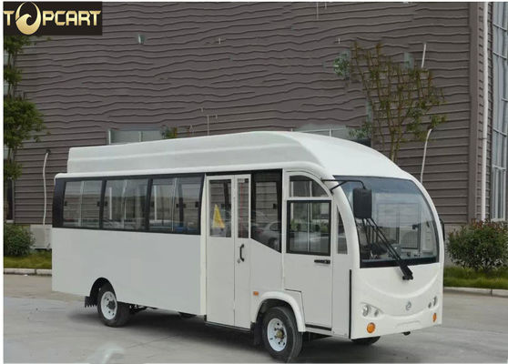 China Electric Bus Fully Enclosed Golf Carts With 22 Seats , Curtis 400 A Controller factory