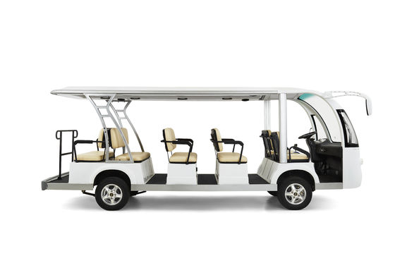 China Electrical Street Legal Golf Carts 14 Seater With Radio / Matte White Loaded distributor