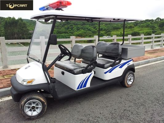 Battery Powered Custom Electric Golf Carts , Electric Patrol Car 8 Hours Charging