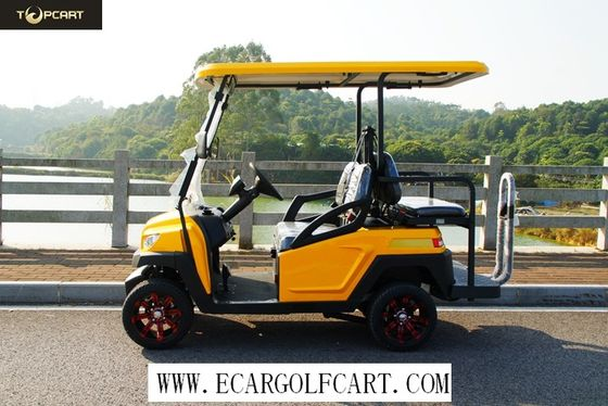 Injection Material 4 Seater Electric Golf Cart 35 Km/H Max Speed , 100 Km Driving Mileage
