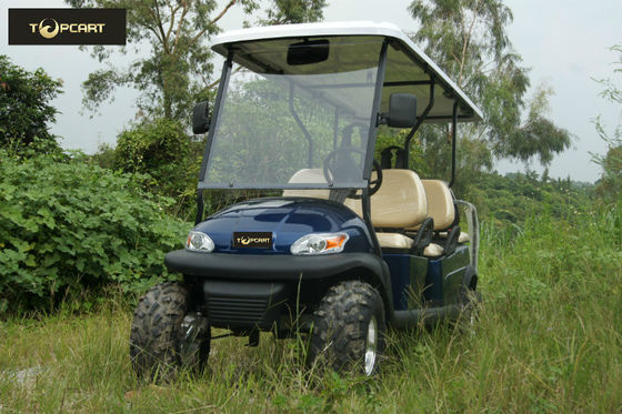 Dynamic Type 6 Seater Golf Cart Big Round Smooth Driving Safety for Mountain Pass