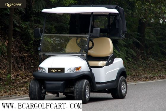 China High End 2 Seater Golf Cart , Electric Powered Golf Carts With Rear Cover distributor