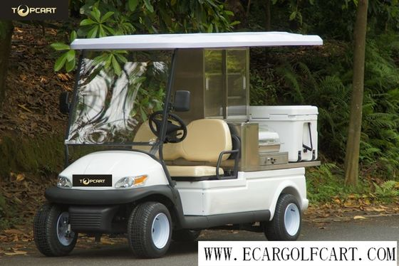 White Color Golf Beverage Cart , Food And Beverage Golf Cart With 5 Horsepower Motor