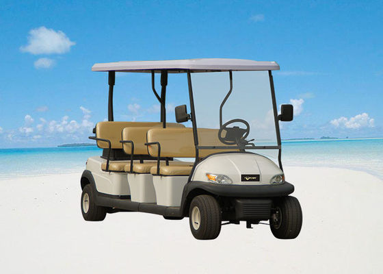 Electric 48V 12 Seater Golf Cart , Battery Powered Club Car Electric Golf Cart