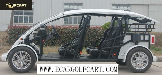 China White Color 4 Passenger Golf Cart 3kw Or 5 Kw Motor , 40KM/H Max Speed distributor