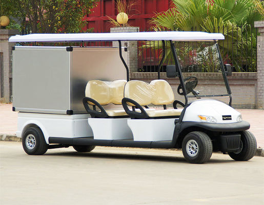 China 48V Electric Utility Golf Cart With Rack on Roof For Hotel Room Service factory