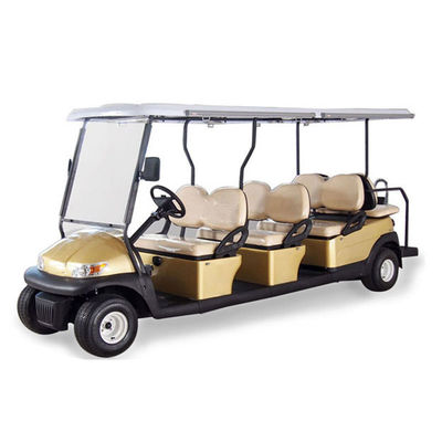 China AC System Electric 12 Seater Golf Cart with Solar Panel , 45km Maximum Travel Distance factory