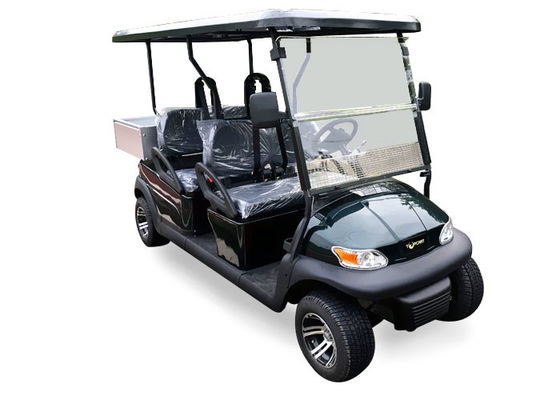 China Dark Blue Electric Utility Golf Cart 4 Passenger With Aluminum Box For Luggage distributor